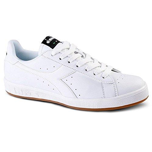 Diadora Game P, Sneaker a Collo Basso Unisex – Adulto C0657 BIANCO