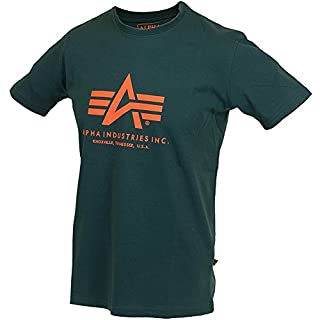 Alpha Industries Basic Logo T-Shirt Logo Shirt (L, dark petrol)