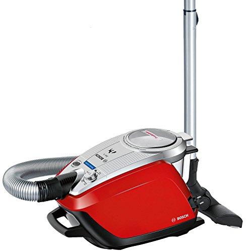 Bosch BGS5335 Zoo'o ProAnimal - Aspirador sin bolsa especial mascotas, tecnología SensorBagless, 800 W, con auto limpieza del filtro, color rojo