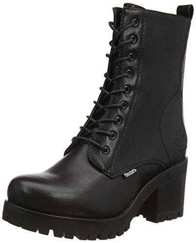 Dockers by Gerli 37CE201-610100, Damen Combat Boots, Schwarz (schwarz 100), 40 EU