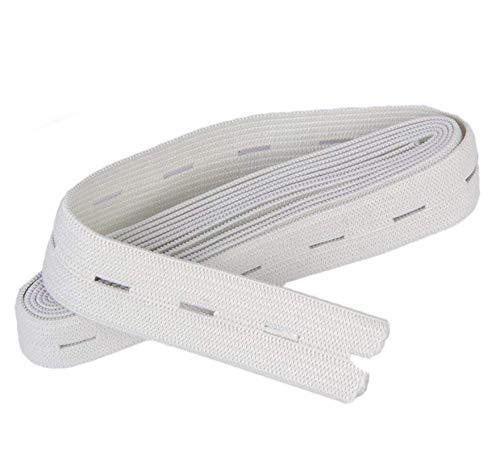 HAND ® Eine Rolle der Faltbare saubere Verarbeitung elastische, Shorts, Röcke, Strickknopfloch elastische - Weiß, 2cmW, 40 Meter -