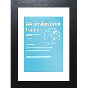 GB Eye 29,7x 21cm Rahmen, A4, schwarz/Mehrfarbig