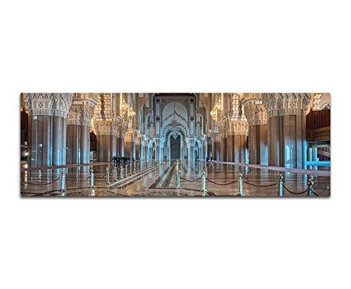 Bilder Wand Bild - Kunstdruck 120x40cm Marokko Moschee Innenraum Ornamente