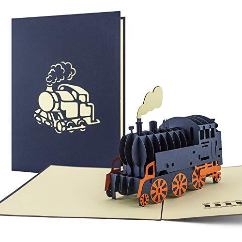 Geburtstagskarte mit eisenbahn