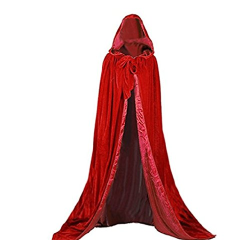 x Holloween Cape Erwachsene Halloween Weihnachten Cosplay Kostüm Cape (Wir Haben Kostüme Voll)
