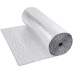 Biard - Isolant Thermique et Acoustique - Feuille Aluminium à Bulles - Double Épaisseur - Isolation Sol Toit Mur - Rouleau 6m²