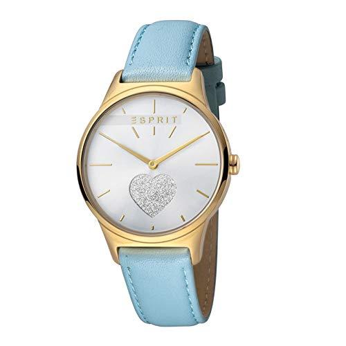 Esprit es1l026l0205Love Silver Blue Mujer Reloj