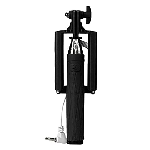 Perche Selfies, Koly De Poche Extensible Selfie-Pole TréPied Manfrotto BâTon Pour Smartphone, iPhone 6/6 Plus/5S/5C/4S, Samsung Galaxy S6/S5/S4/S3, Note 4/3/2 , wiko et la plupart des smartphones Android (Ne prend pas en charge WINDOWS PHONE ni Blackberry)