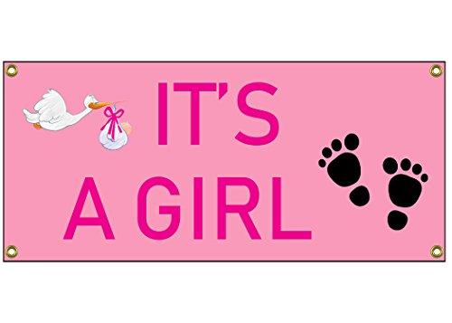 It 's a girl Congratulations Banner Willkommen Zuhause sich, 91,4cm von 38,1cm Geburt Schwangere Baby Dusche