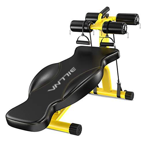 Sit-up Board Indoor Panca con manubri Multifunzione Sgabello da Fitness Professionale Panca per Pesi Allenatore Addominale, Cuscinetto 300KG (Color : Yellow, Size : 134 * 38 * 57cm)