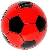 Unbekannt große Spardose -  Fußball / Ball - rot & schwarz  - stabile Sparbüchse aus Porzellan / Keramik - Sparschwein - Fußball Mannschaft - für Kinder & Erwachsene ..