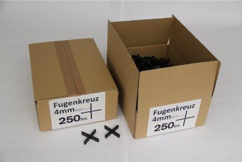 Preisvergleich Produktbild Fugenkreuze 4mm, Bauhöhe 10mm, 250 Stück im Karton