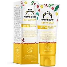 Amazon Brand - Mama Bear - Baby Sun Cream SPF 50 (High UVA/UVB Protection)-  4 Tubes - 4x100ml