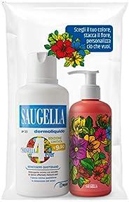Saugella 4Ever Limited Edition Dermoliquido, 500 ml, con Flacone Colorato Incluso da 150 ml