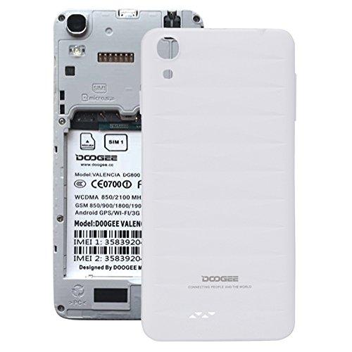 Piezas de repuesto para teléfonos móviles, La batería cubierta trasera para Doogee VALENCIA DG800 ( Color : Blanco )
