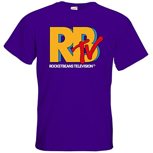 getshirts - Rocket Beans TV Official Merchandising - T-Shirt - RBTV Logo Purple