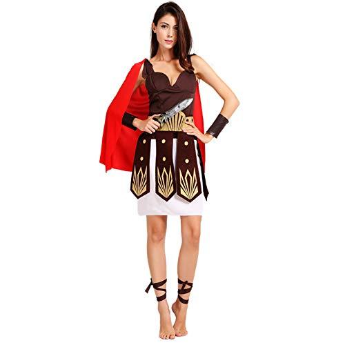 Macxy - Halloween Purim Erwachsener Alte römische griechische Krieger Gladiator Kostüm Ritter Julius Caesar Kostüme Cosplay für Männer Frauen Paar [Männer]