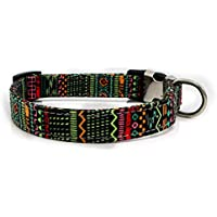 Hawkimin - Collar para Perro o Mascota, con Remaches de Colores Ajustables