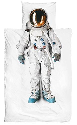 Snurk Bettwäsche Astronaut 135 x 200 cm 100% - Raumanzug Kostüm Material