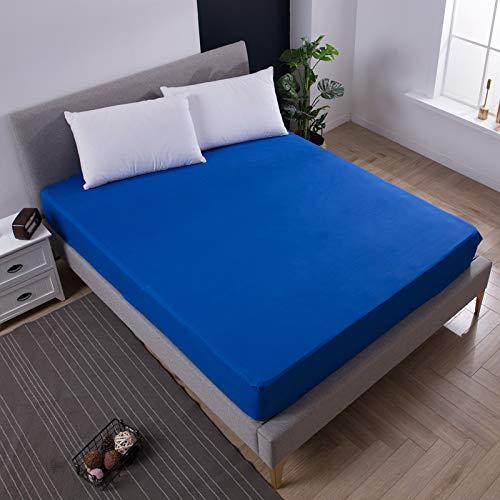 Chlch coprimaterasso in microfibra extra-morbido imbottito copertura materasso,lenzuolo per la pulizia del copriletto in puro colore blu 90x200cmx25cm
