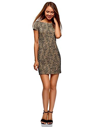 ni-Kleid mit Flockdruck, Beige, DE 40 / EU 42 / L ()
