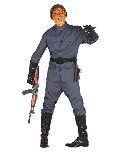 Zombie Soldat Uniform Herrenkostüm für Halloween, Zombie Walk & Karneval One Size