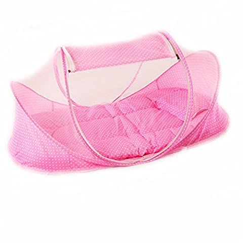 CHRISLZ Summer Mosquito Net pour les enfants, Portable Folding Baby Travel Bed Berceau Berceaux Newborn Foldable Crib