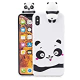 Funluna Coque iPhone XS Max, 3D Panda Motif Ultra Mince TPU Housse Flexible Souple...