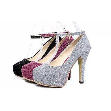 Moda Donna Sandali Sexy donna tacchi Primavera / Estate / Autunno Comfort abito pu Stiletto Heel fibbia Altri / nero / viola / Argento Altri Black