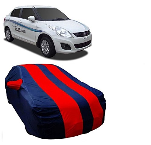 MotRoX Car Body Cover For Maruti Suzuki Swift Dzire with Side Mirror Pocket (Red & Blue)  available at amazon for Rs.899