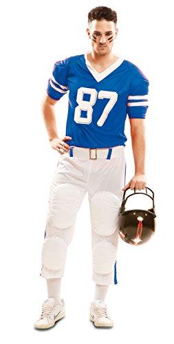 Imagen de partychimp – disfraz de jugador de rugby para hombre, color azul