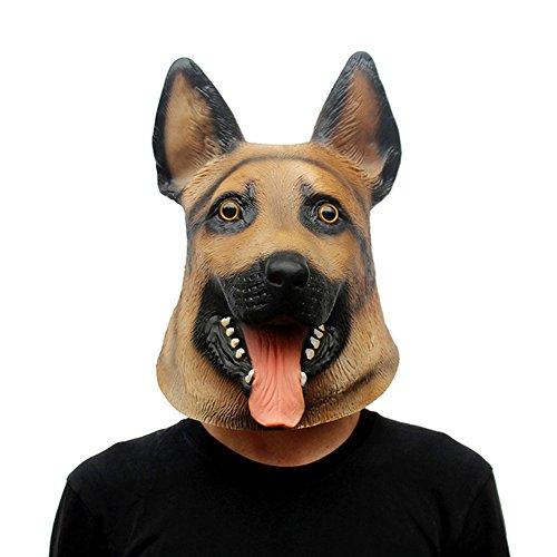 Ruikey Halloween Maske Neuheit Pferd Kopfbedeckung Masquerade Maske Party Supplies Props Performance Requisiten Hund