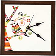 I Village Products Designer Wall Clock (10x10-inch, Multicolour)