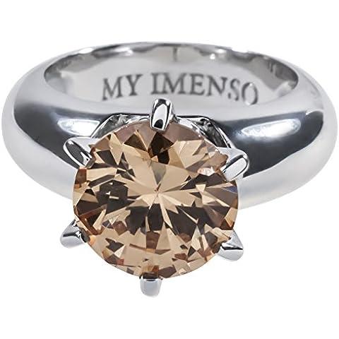 MY iMenso anello in argento con champagne zirconi combinazione color RG 53/54 28-051-170 + 28-1004