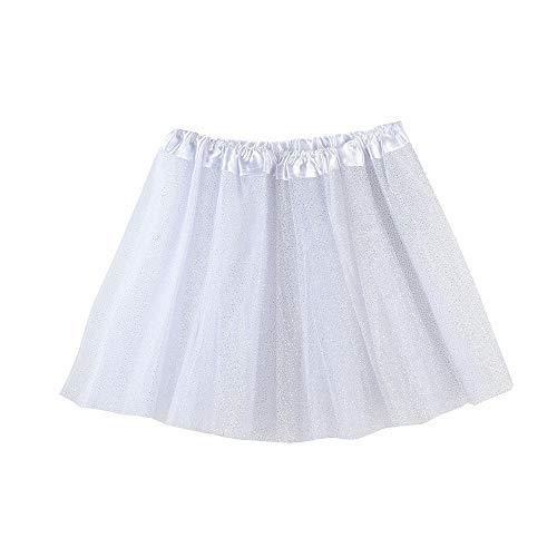 Lazzboy ragazze tutù tutu tulle scintillante balletto gonna principessa dress-up danza indossare per 3-8 anni costume festa kids(2-8 anni,bianca)