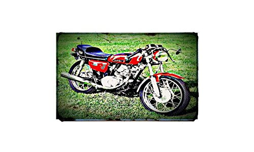 1972 honda cb125 cafe racer Bike Motorcycle A4 Photo Print Retro Aged Vintage -