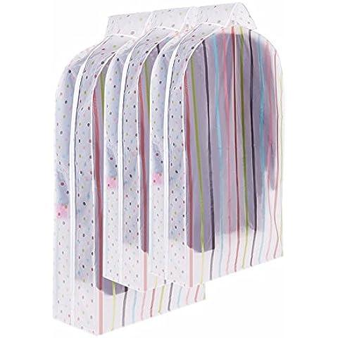 Queen size ropa ropa transparente sólida cubierta antipolvo cubierta de la bolsa de polvo trajes traje antipolvo bolso Pocket,Una Cama Queen + Dos de tamaño mediano (conjunto de tres),banda