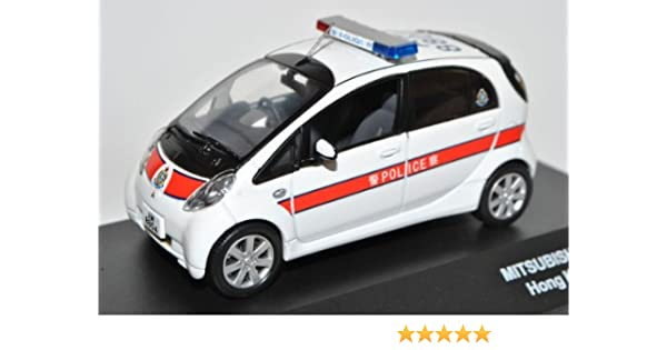 Mitsubishi I-Miev 2010 Hong Kong Police Polizei Weiss 1//43 J-Collection Modell A