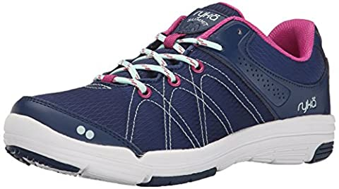 RYKA Women's Summit Walking Shoe, Jet Ink Blue/Mint Ice/Rose Violet,