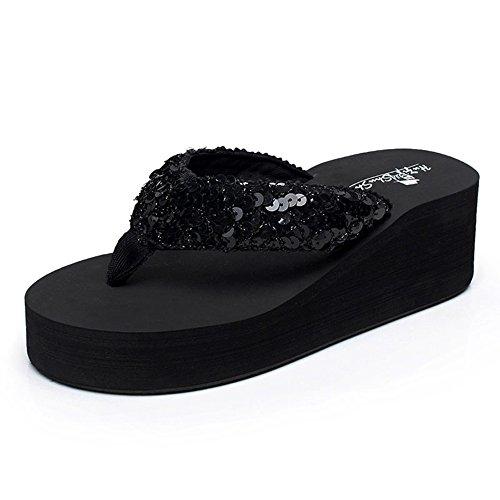 Estate Sandali Flip flops Slip di estate femminile Sandali impermeabili inferiori del fondo Sandali di personalità di moda con i formati Colore / formato facoltativo 1001