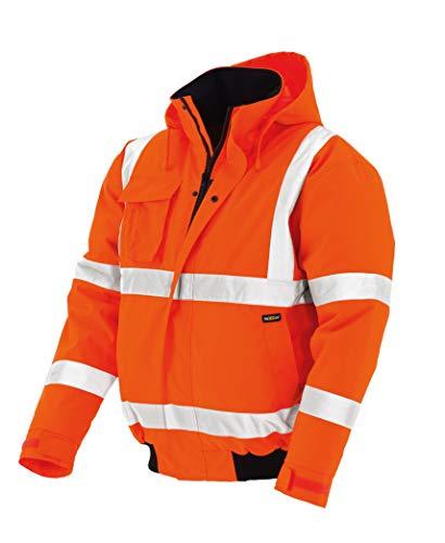 texxor 4119 - Chaqueta de trabajo impermeable, cortaviento naranja m de trabajo
