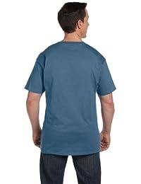 Hanes Beefy-T Adult Pocket T-Shirt_Denim Blue