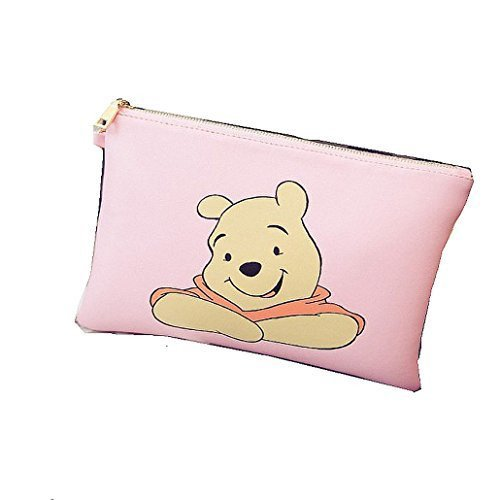 winnie-the-pooh-rosa-clutch-bolso-de-hombro-bolso-de-mano-con-cremallera