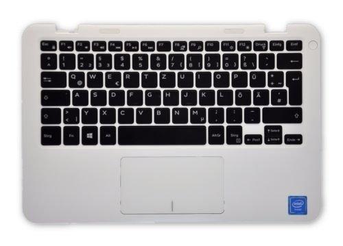 Dell Inspiron 11 3000 Series (3162) White Palmrest With GERMAN Keyboard RV8J2 59N69