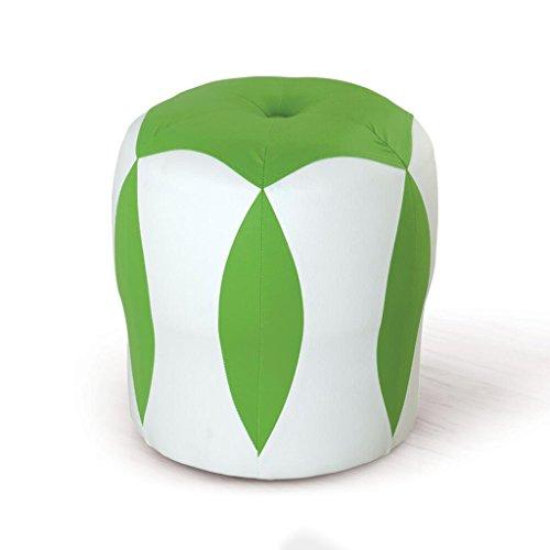 Tabouret de canapé Xuan - Worth Having Tabouret de Fleur Blanc + Vert Tabouret Bas Changer de Chaussures Tabouret de Maquillage en Cuir pour Enfants Tabouret imperméable à l'eau (33 * 33 * 35cm)