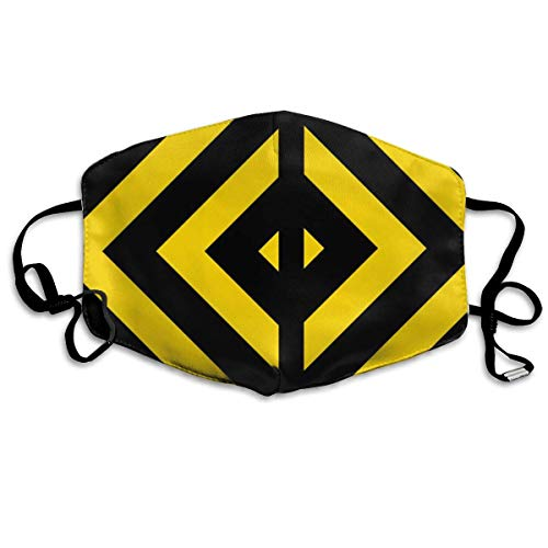 Daawqee Staubschutzmasken, Bold Highway Traffic Bumble Bee Chevrons On A Anti Dust Face Mouth Cover Mask Respirator Cotton Protective Breath Healthy Safety Warm Windproof Mask