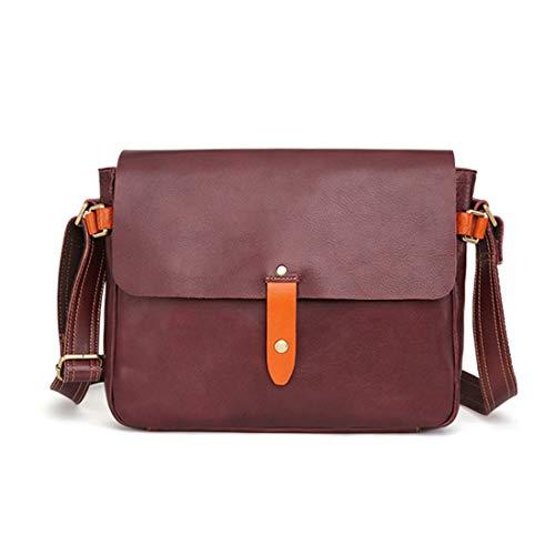 Preisvergleich Produktbild Xasclnis 15 Zoll Echtem Leder Aktentasche für Männer Tote Handtasche Schulter Messenger Satchel Tasche Für Laptop MacBook (Color : Coffee)