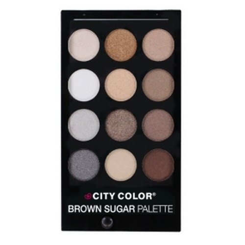 CITY COLOR Brown Sugar Eye Shadow Palette - 12 Shades