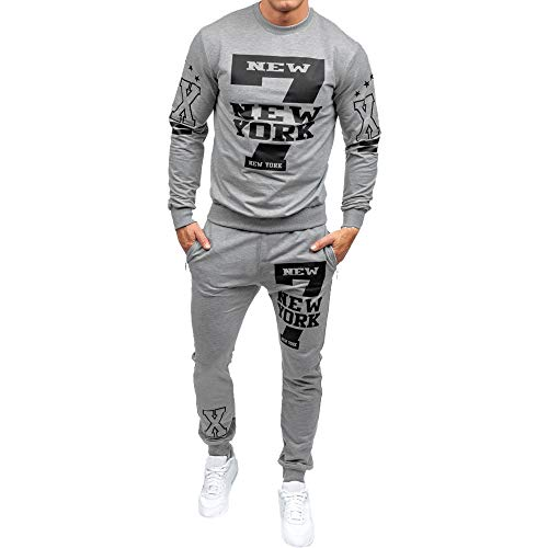 Los Hombres de otoño Invierno Impreso Sudadera Pantalones Superiores Conjuntos de Trajes Deportivos chándal por Internet.