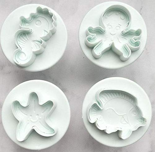 Sealife Ausstechform Keksform Backen Kuchen Dekoration Topper Set